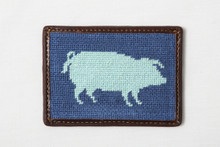 Blue Pig Card Wallet