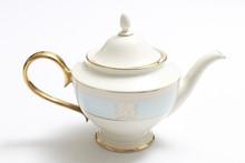 Congress Hall Bicentennial Teapot with Gold Handle