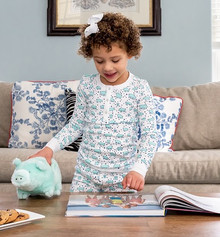 Blue Pig Pajama Set