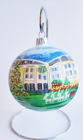 Congress Hall Tree Round Ornament