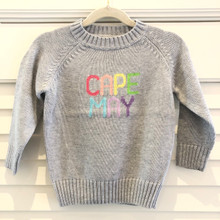 Cape May Sweater - Kid's Grey/Rainbow