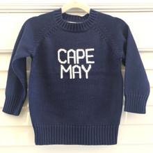 Cape May Sweater - Kid's Navy/Ivory