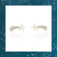 Kris Nations Shooting Star Stud Earrings - Silver