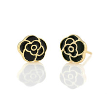 Kris Nations Flower Enamel Stud Earrings