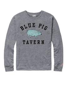 Blue Pig Tavern tri-blend l/s tee