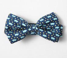 Vineyard Vines Blue Pig Bow Tie
