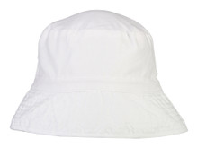 Snapper Rock Kids UV50 Bucket Hat - White