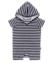 Snapper Rock Baby Boy's Hooded Toweling Onesie