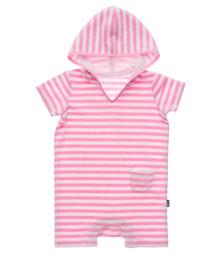 Snapper Rock Baby Girl's Hooded Toweling Onesie