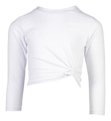 Snapper Rock Girl's Sustainable L/S Cropped Rash Top