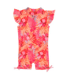 Snapper Rock Baby Girl's Tropical Punch Flutter Sleeve Sunsuit