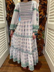 Oliphant Provence Smocked Top Maxi Dress