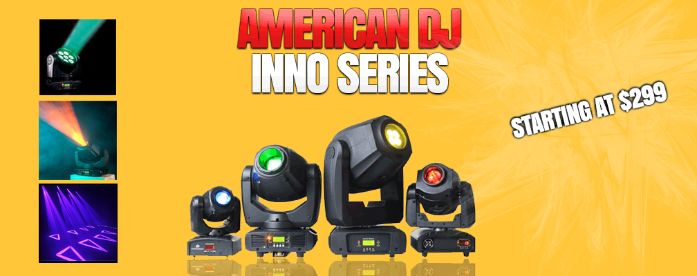 American DJ Inno Spots Available at GearclubDirect