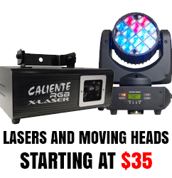 Lasers and moving heads