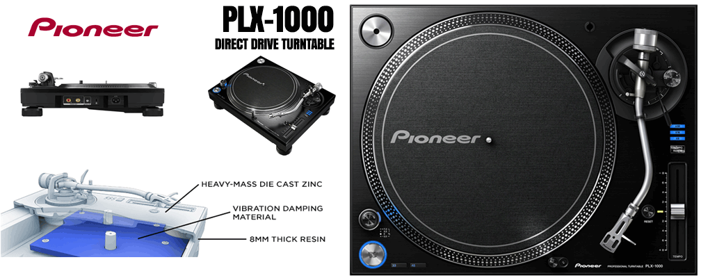 Pioneer PLX-1000 Direct Drive Turntable