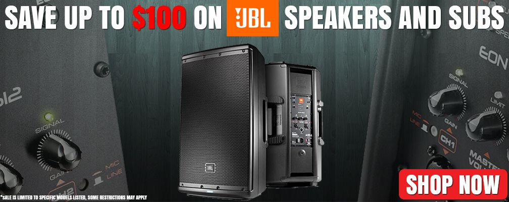 Save on JBL Speakers and Subs