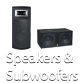 Speakers and Subwoofers at GearClubDirect.com