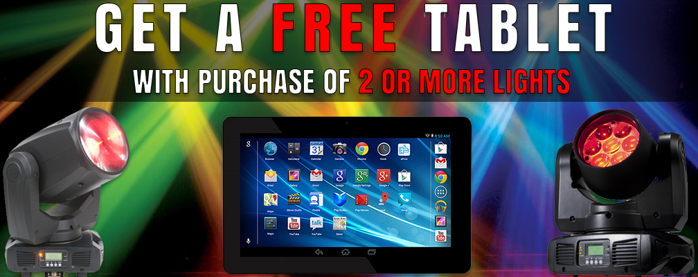 Buy 2 Lights, Get a FREE Tablet