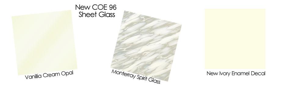 New COE 96 Sheet Glass