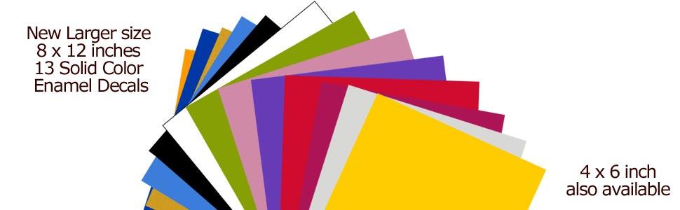 New Full Sheet 8 x 12 Fusible Enamel Decals