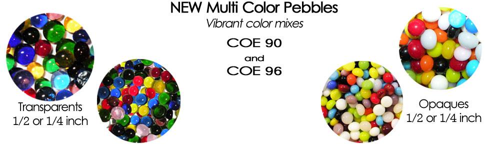 Fusible Glass Mini Pebbles COE 90 or COE 96