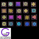 "Dichroic Rainbow CELTIC Design on CLEAR Glass a 3/4"" - 1"" Diameter (Qty 1) COE 90"