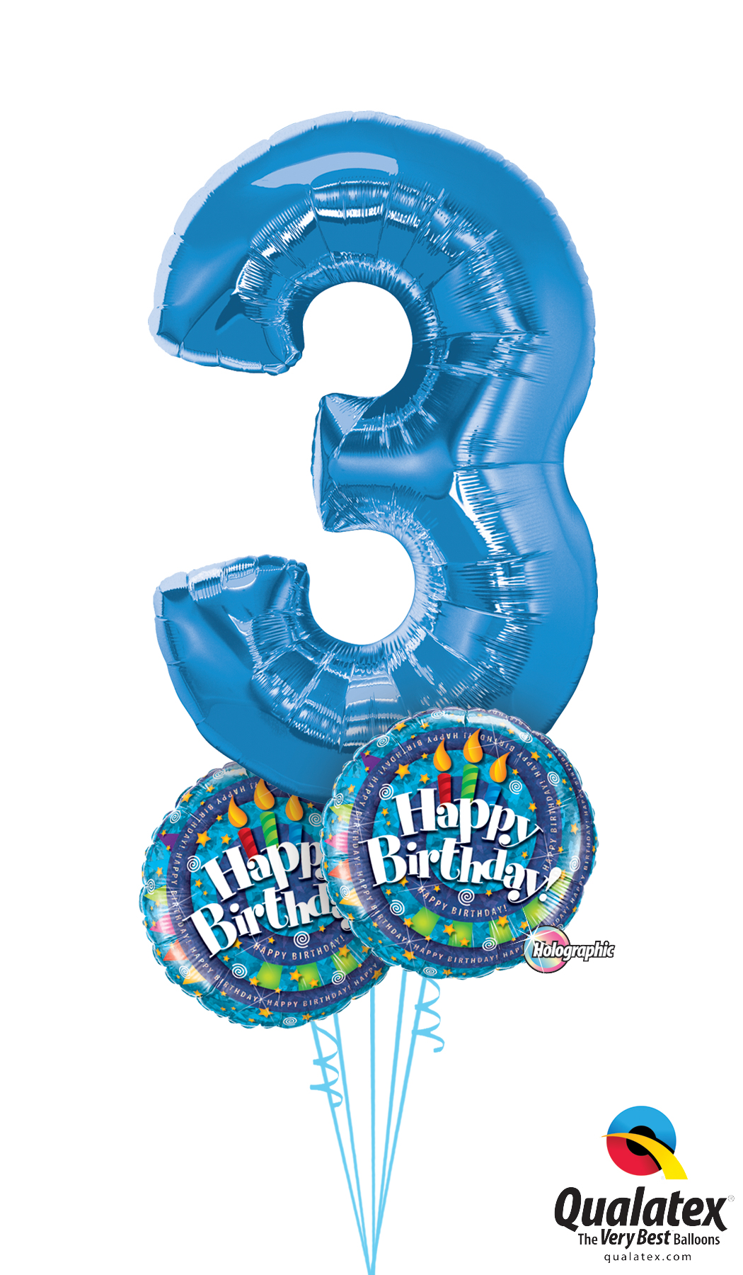 3rd Birthday Balloons Delivered