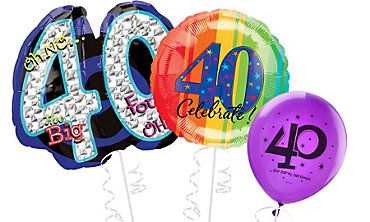 40th Birthday Balloons Delivered