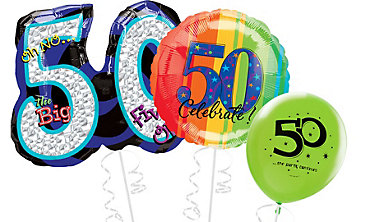 50th Birthday Balloons 50