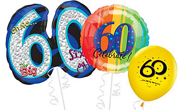 60th Birthday Balloons Delivered