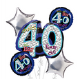 40th Birthday Balloon Bouquet - Oh No 40!