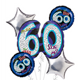 60th Birthday Balloon Bouquet - Oh No 60!
