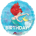 Little Mermaid Happy Birthday Balloon