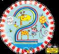 "18"" 2nd Birthday Giraffe Stripes by Rachel Ellen Designs"
