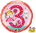 "18"" 3rd Birthday Princess Polka Dots by Rachel Ellen Designs"