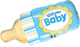 "39"" Welcome Baby Bottle - Blue"