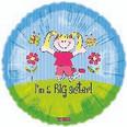 "18"" Smiling I'm a Big Sister Balloon"