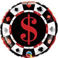 """18"""" Casino Dollar Sign Helium Balloon"""