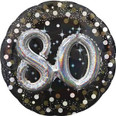 "36"" Sparkling Birthday 80 Holographic Multi-Balloon"