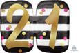 """25"""" Jumbo Pink & Gold Milestone 21 Foil Balloon"""
