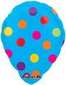 "18"" Anagram Perfect Balloon - Blue Polka Dot"
