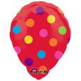 "18"" Anagram Perfect Balloon - Red Polka Dot"