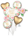 Floral Baby Girl Foil Balloon Bouquet
