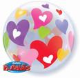 "22"" Colourful Hearts Bubble Balloon"