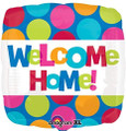 "18"" Multicolored Welcome Home Foil Balloon"