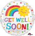 "18"" Get Well Happy Sun Foil Balloon"