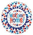 Welcome Home Confetti Patriotic Foil Balloon