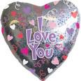 """32"""" Jumbo Holographic I Love You Balloon"""