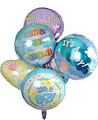 Half Dozen Baby Boy Mylar Balloon Bouquet