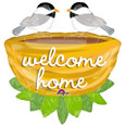 Welcome Home Birdies and Nest Bouquet